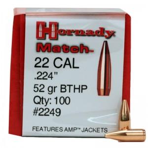 Hornady 22 52gr BTHP Match Box