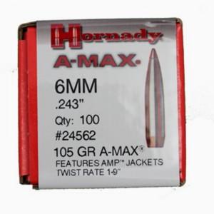 Hornady 243 105gr A-MAX Box