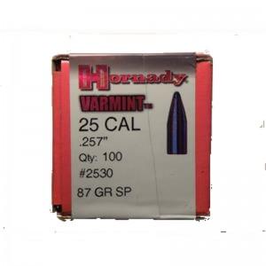 Hornady 257 87gr SP Varmint Box